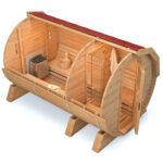 Gartensauna Bausatz Wohnzimmer Gartensauna Bausatz Fasssauna Sauna Besteht Aus 2 Rumen Gesamtlnge 450 Cm