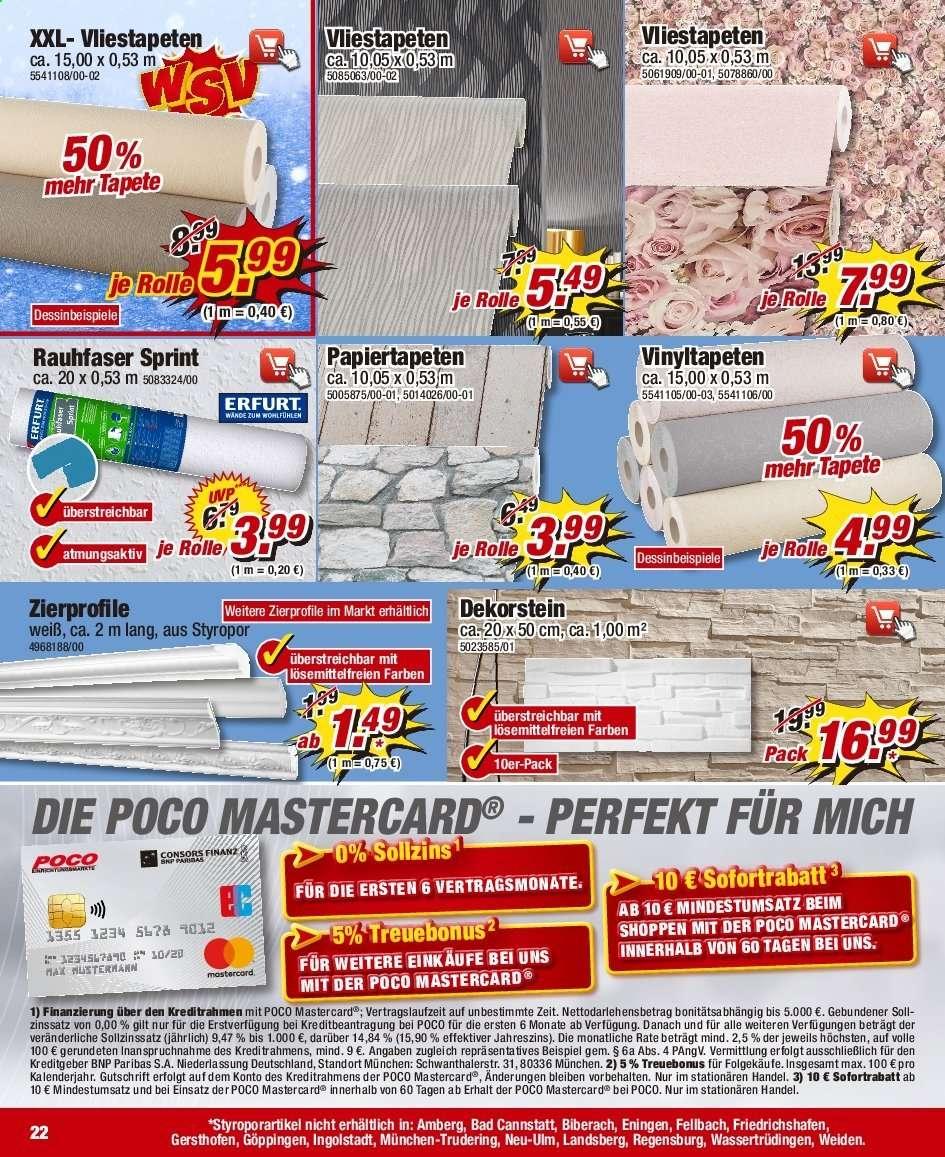 Full Size of Poco Prospekt 1112020 1712020 Rabatt Kompass Betten Beistelltisch Küche Big Sofa Bei Ikea Arbeitsplatten Arbeitsplatte Mitarbeitergespräche Führen Tapeten Wohnzimmer Tapeten Bei Poco