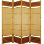 Paravent Bambus Wohnzimmer Bambus Paravent Paravents Bambusmbel Kultur Bett Garten