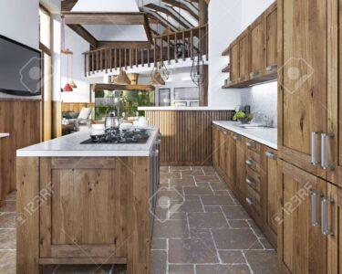 Küchen Rustikal Wohnzimmer Küchen Rustikal Groe Schne Kche In Einem Rustikalen Stil Mit Einer Insel Und An Regal Küche Esstisch Holz Rustikaler Rustikales Bett