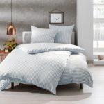 Thumbnail Size of Bettwsche 155x220 Streifen Blau 100 Baumwolle Jetzt Entdecken Bettwäsche Sprüche Wohnzimmer Bettwäsche 155x220