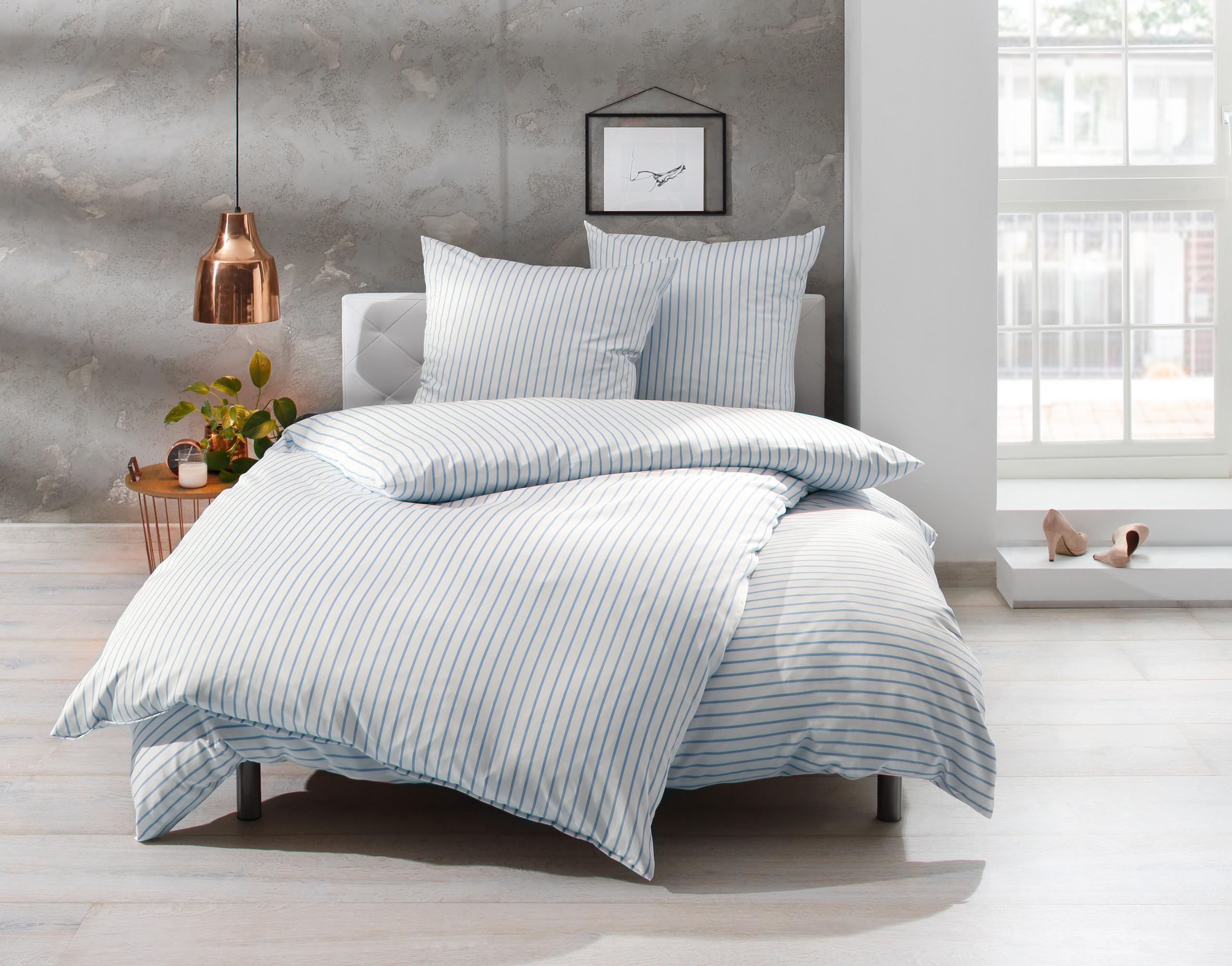 Full Size of Bettwsche 155x220 Streifen Blau 100 Baumwolle Jetzt Entdecken Bettwäsche Sprüche Wohnzimmer Bettwäsche 155x220