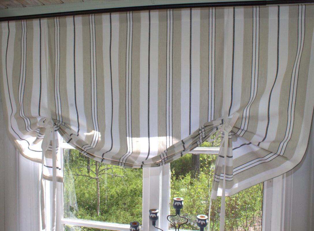 Large Size of Raffrollo Landhausstil Raff Gardine Romy Schwarz Rollo 100 120 140 160 Cm Breit Landhaus Küche Bad Boxspring Bett Schlafzimmer Esstisch Wohnzimmer Regal Sofa Wohnzimmer Raffrollo Landhausstil