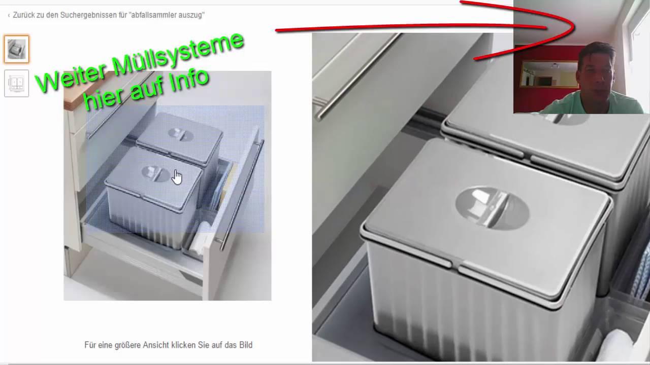 Full Size of Müllsystem Abfallsystem Fr Einbaukchen Mllsystem Auszugschrank Video 3 Küche Wohnzimmer Müllsystem