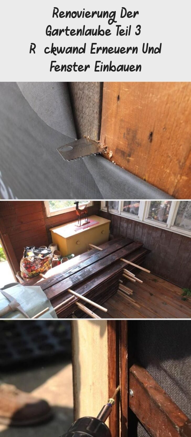 Fensterfugen Erneuern Renovierung Der Gartenlaube Teil 3 Rckwand Und Fenster Bad Kosten Wohnzimmer Fensterfugen Erneuern