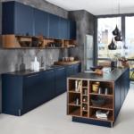 Küche Blau Wohnzimmer Küche Blau Design Kche In Elegantem Mit Kochinsel Moderne Edelstahlküche Gebraucht Pendelleuchten Jalousieschrank Holz Weiß Lüftung Einbauküche E Geräten