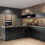 Hängeregal Kücheninsel Nolte Ferro Echtmetallfront In Blau Oder Cortenstahl Küche Wohnzimmer Hängeregal Kücheninsel