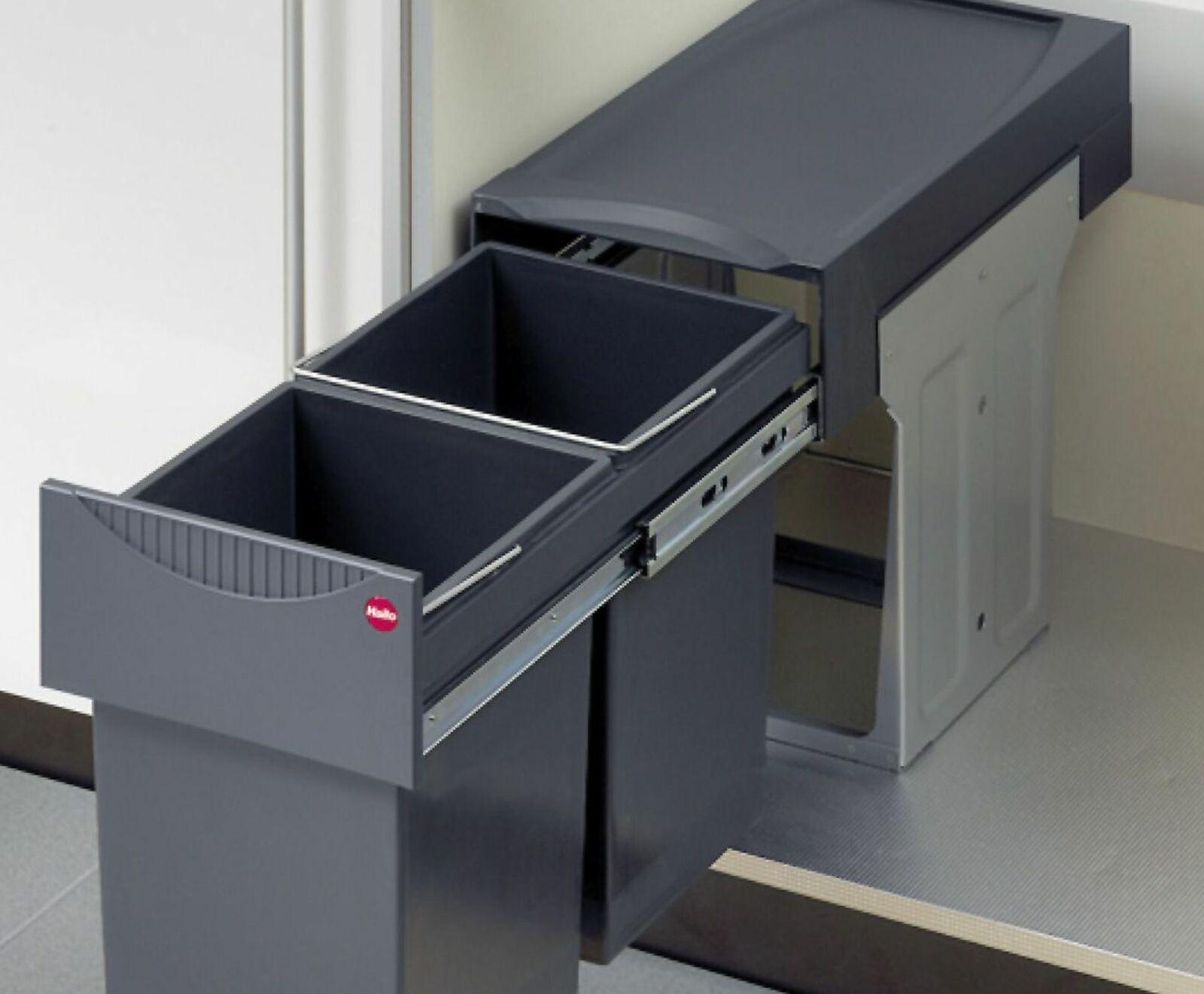 Full Size of Müllsystem Mlleimer Abfalleimer Kche 2x15 Liter Hailo Mllsystem Küche Wohnzimmer Müllsystem