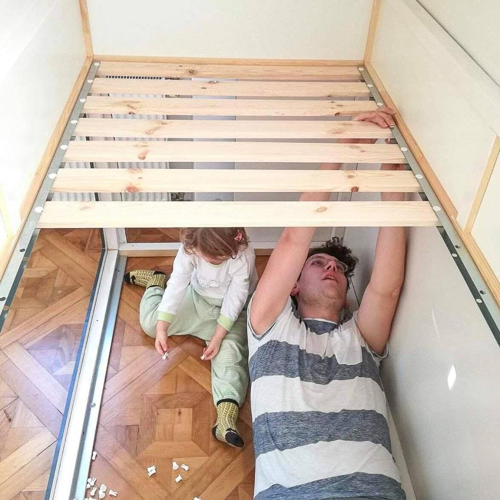 Full Size of Ikea Kura Bunk Bed Hack Instructions Storage House Hacks Pinterest Wiemadamewohnt Madame M Wohnzimmer Kura Hack