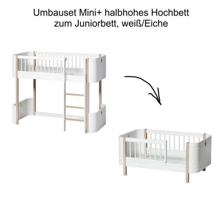 Medium Size of Wood Umbauset Mini Halbhohes Hochbett Zum Juniorbett Wei Eiche Bett Wohnzimmer Halbhohes Hochbett