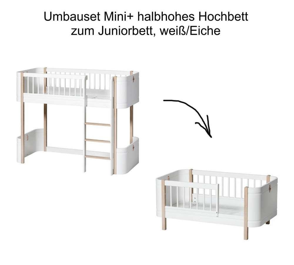 Full Size of Wood Umbauset Mini Halbhohes Hochbett Zum Juniorbett Wei Eiche Bett Wohnzimmer Halbhohes Hochbett