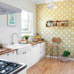 Küchen Tapeten Abwaschbar Schne Kchentapeten Ideen Fr Jeden Einrichtungsstil 30 Regal Für Die Küche Wohnzimmer Fototapeten Schlafzimmer Wohnzimmer Küchen Tapeten Abwaschbar