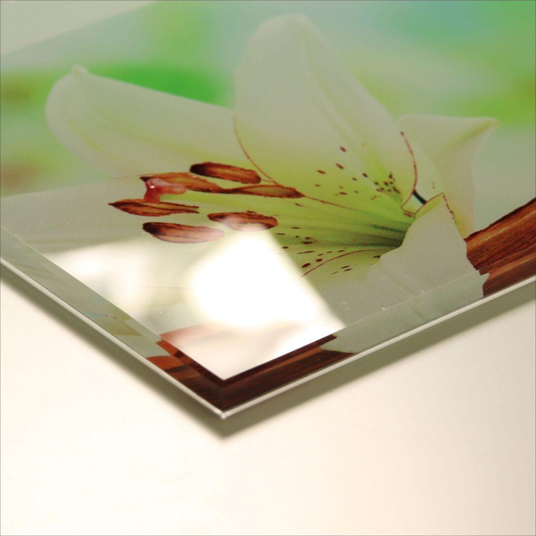 Large Size of Glasbild 120x50 Led Beleuchtete Kchenrckwand Aus Esg Glas Glasbilder Küche Bad Wohnzimmer Glasbild 120x50
