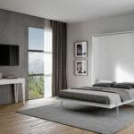 Klappbares Doppelbett Wohnzimmer Klappbares Doppelbett Verstecktes Schrankbett Klappbar Vertikal Weiss Made In Italy Ausklappbares Bett