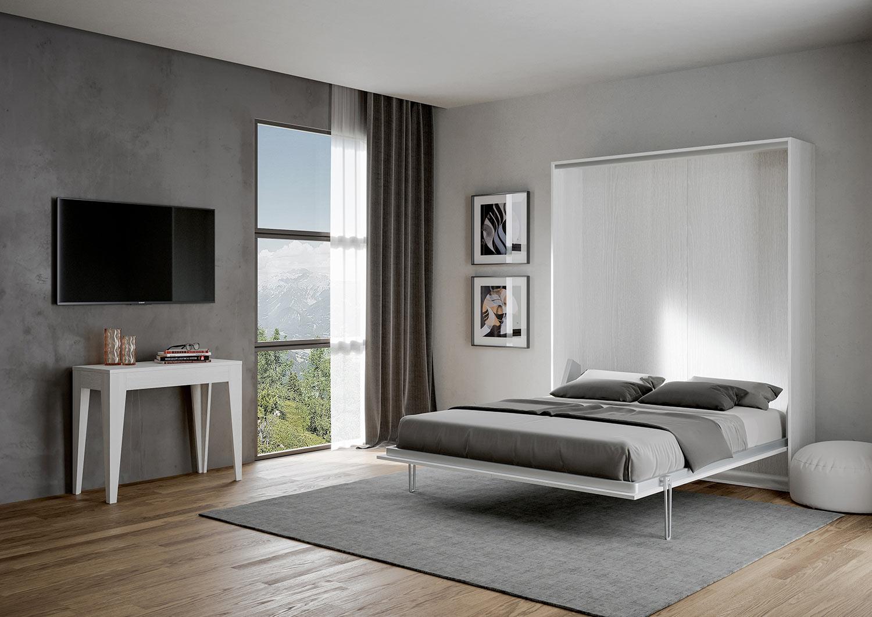 Full Size of Klappbares Doppelbett Verstecktes Schrankbett Klappbar Vertikal Weiss Made In Italy Ausklappbares Bett Wohnzimmer Klappbares Doppelbett