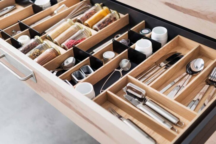 Medium Size of Besteckeinsatz Leicht Kche Schubladeneinsatz 100 Cm Ikea Diy Küche Wohnzimmer Gewürze Schubladeneinsatz