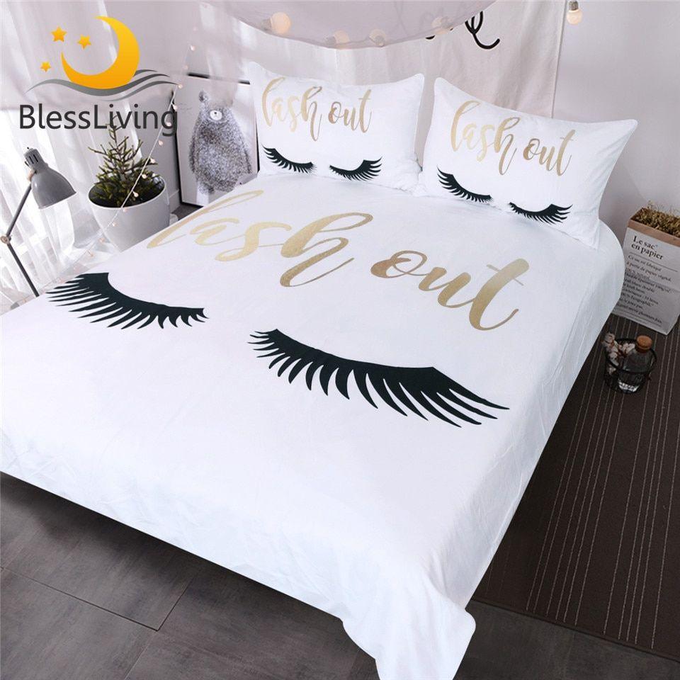 Full Size of Bettwäsche Lustig Blessliving Wimpern Bettwsche Knigin Gold Und Schwarz Nette Lustige T Shirt Sprüche T Shirt Wohnzimmer Bettwäsche Lustig
