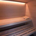 Thumbnail Size of Außensauna Wandaufbau Bad Wellness24 Sauna Paneelen 230 180 Erle Hhe 220 Glasfront Wohnzimmer Außensauna Wandaufbau