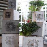 Pflanzkasten Holz Wei Ornamente Garten Shabby Landhaus Küche Landhausstil Badezimmer Deko Weisse Landhausküche Wohnzimmer Grau Schlafzimmer Bett Weiß Sofa Wohnzimmer Deko Shabby Landhaus