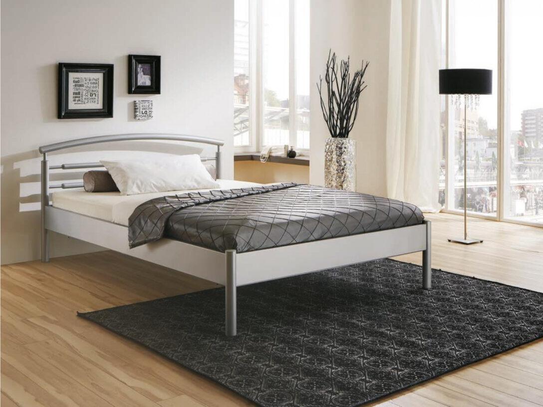 Large Size of Schlichter Metallbett Julia Betten 100x200 Bett Weiß Wohnzimmer Metallbett 100x200
