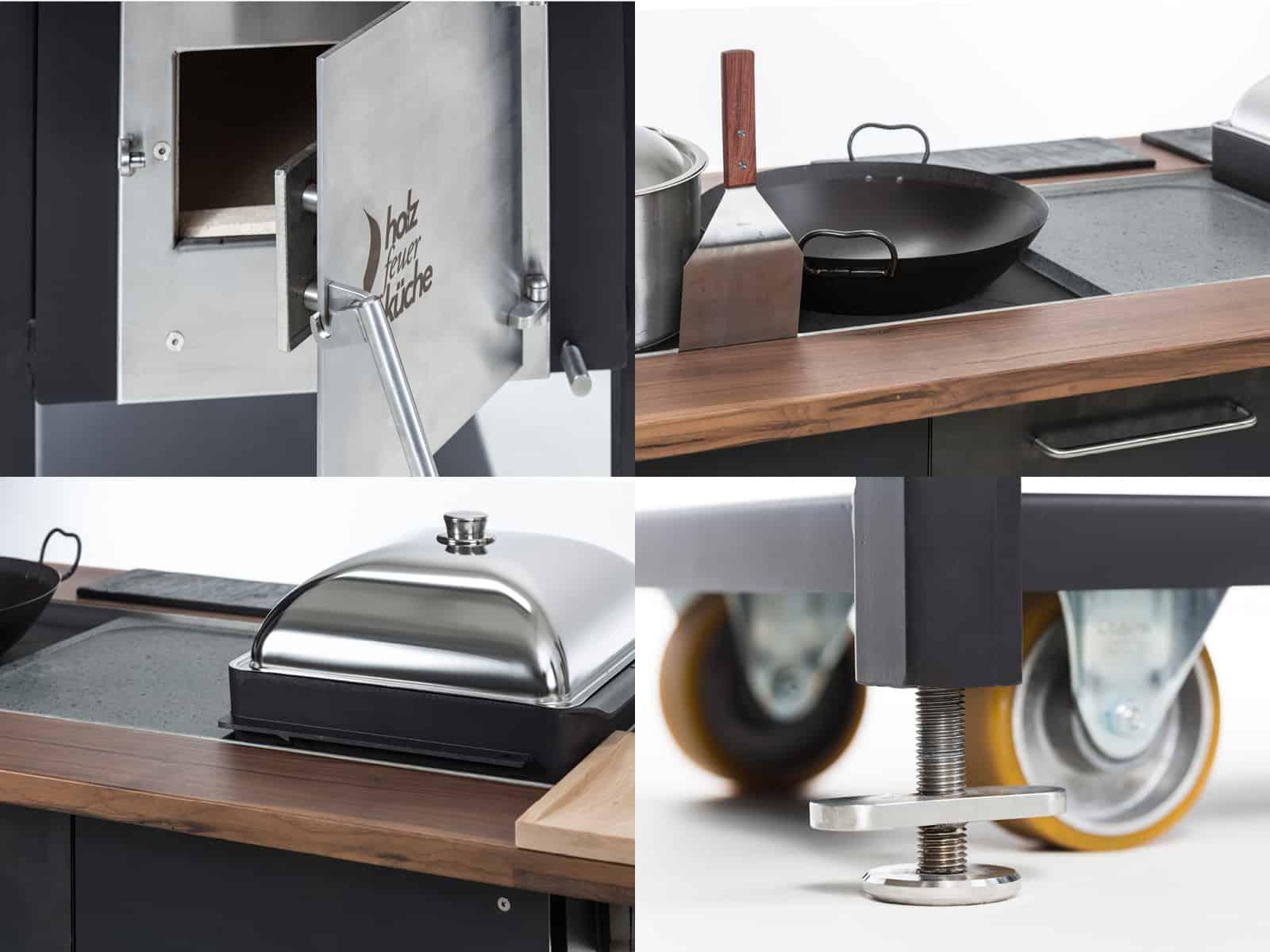 Full Size of Klassische Holzfeuerkche Aus Edelstahl Mobile Küche Wohnzimmer Mobile Outdoorküche