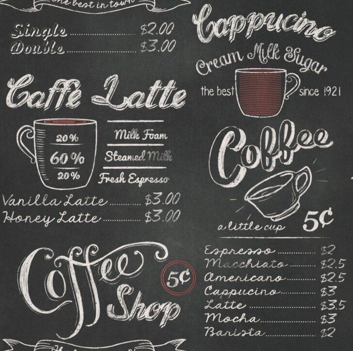 Medium Size of Rasch Tapete Kchentapete Kche Cafe Kaffee Coffee Vintage Klapptisch Küche Scheibengardinen Sitzgruppe Landhaus Abfalleimer Schmales Regal Niederdruck Armatur Wohnzimmer Tapete Küche Kaffee