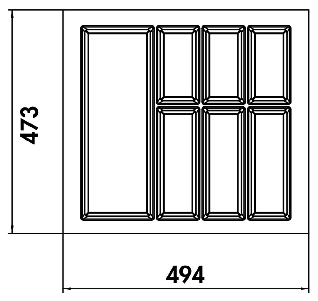 Full Size of Nobilia Besteckeinsatz Naber 8034268 Adesso 1 Einbauküche Küche Wohnzimmer Nobilia Besteckeinsatz