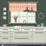 Küche Fenster Kche Vector Illustration Vektor Abbildung Bild Aufbewahrung Abdichten Vorhang Alno Zwangsbelüftung Nachrüsten Fliegennetz Hängeschränke Wohnzimmer Küche Fenster