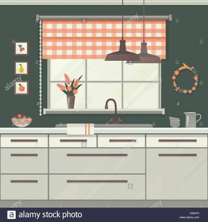 Medium Size of Küche Fenster Kche Vector Illustration Vektor Abbildung Bild Aufbewahrung Abdichten Vorhang Alno Zwangsbelüftung Nachrüsten Fliegennetz Hängeschränke Wohnzimmer Küche Fenster