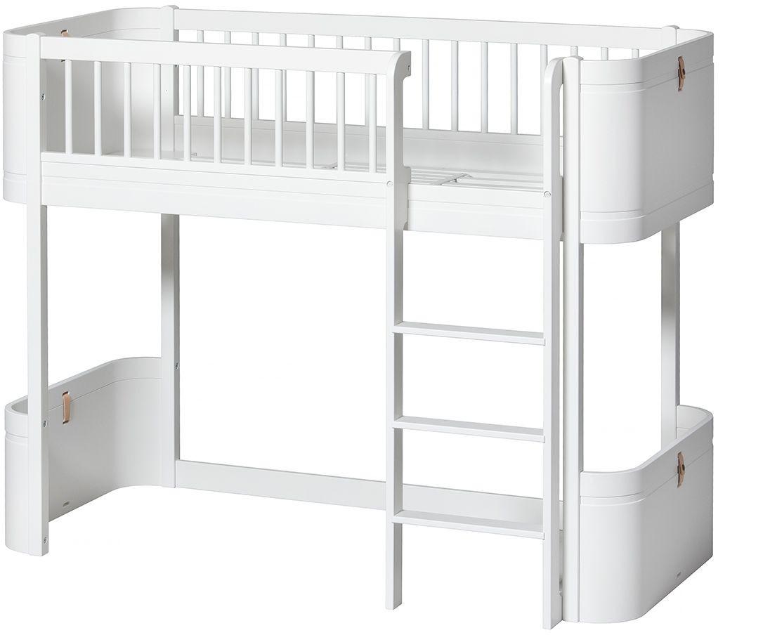 Full Size of Wood Mini Halbhohes Hochbett Oliver Furniture Kleine Fabriek Bett Wohnzimmer Halbhohes Hochbett