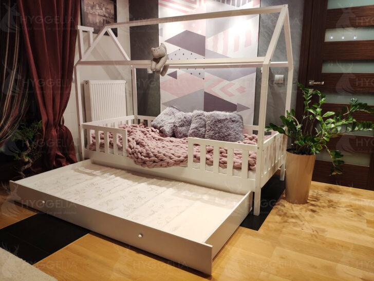 Medium Size of Hausbett Mit Unterbett Kinderbett Barrieren Und Zweitem Bett Holzbett Huschenbett 160x200 Lattenrost Schreibtisch Esstisch Rund Stühlen Sitzbank Küche Lehne Wohnzimmer Hausbett Mit Unterbett