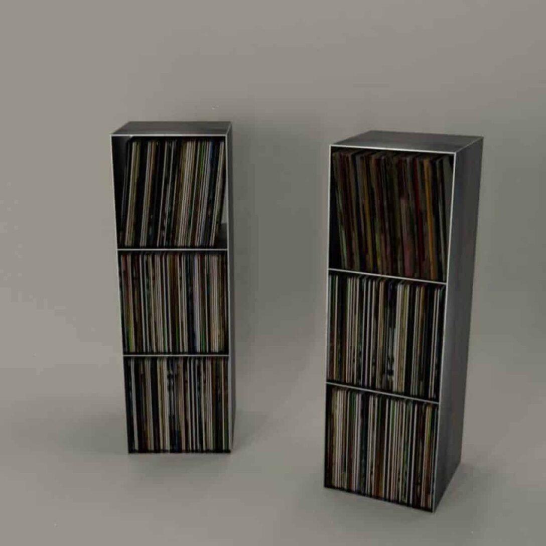 Large Size of Regalwürfel Metall Schallplatten Regal Classic 018 Schwarz Regale Weiß Bett Wohnzimmer Regalwürfel Metall