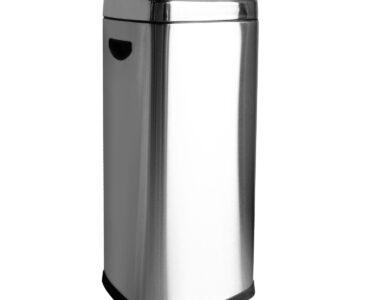 Abfallkübel Küche Wohnzimmer 30 Liter Edelstahl Push Abfalleimer Mlleimer Druckdeckel Armaturen Küche Müllschrank Bodenfliesen Gebrauchte Hochglanz Weiss Stengel Miniküche Kaufen