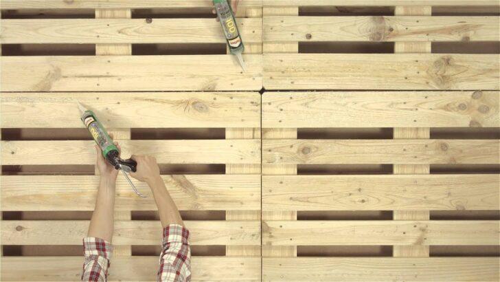 Medium Size of Palettenbett Bauen Youtube Wohnzimmer Bauanleitung Bauplan Palettenbett