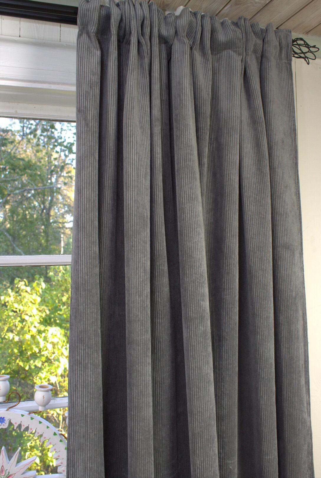 Large Size of Vorhang Suna Samt Kord Grau 140x250 Cm 2 Stck Blickdicht Fenster Gardinen Für Schlafzimmer Küche Wohnzimmer Die Scheibengardinen Wohnzimmer Blickdichte Gardinen