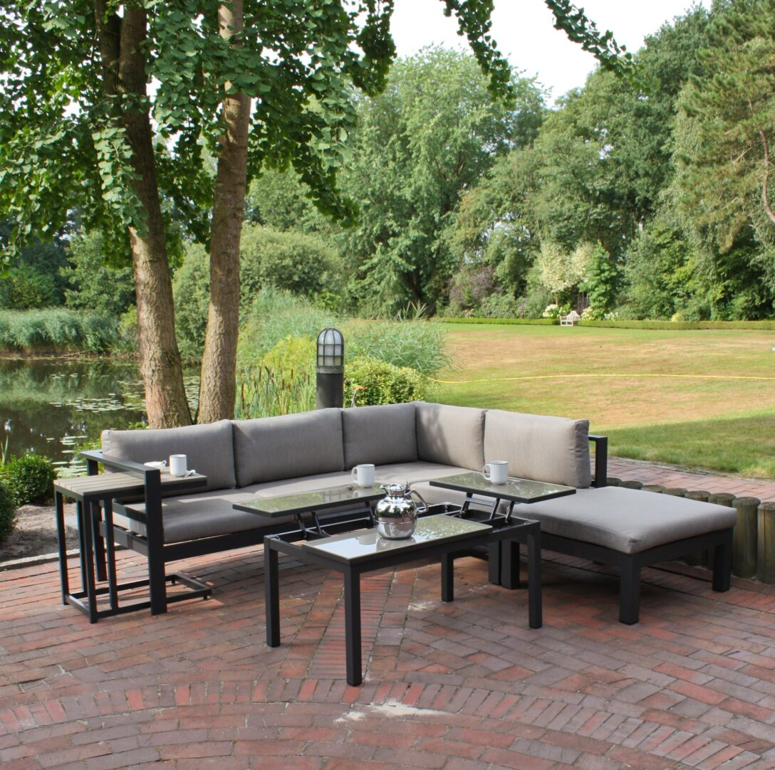 Large Size of 5tlg Alu Lounge Eckgruppe Garten Sitzgruppe Terrasse Tisch Sofa Wohnzimmer Couch Terrasse