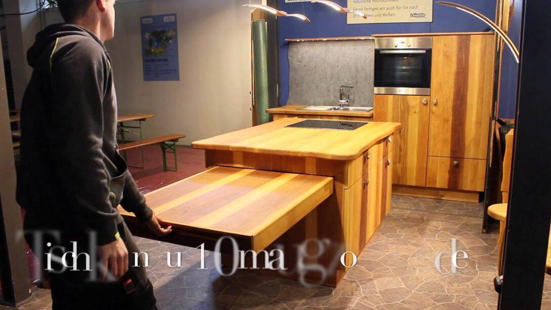 Large Size of Kücheninsel Mit Esstisch I Tpfele Kchenblock Und Freitragender Tisch Youtube Singleküche E Geräten Regal Türen Sofa Schlaffunktion Günstig Landhausstil Wohnzimmer Kücheninsel Mit Esstisch