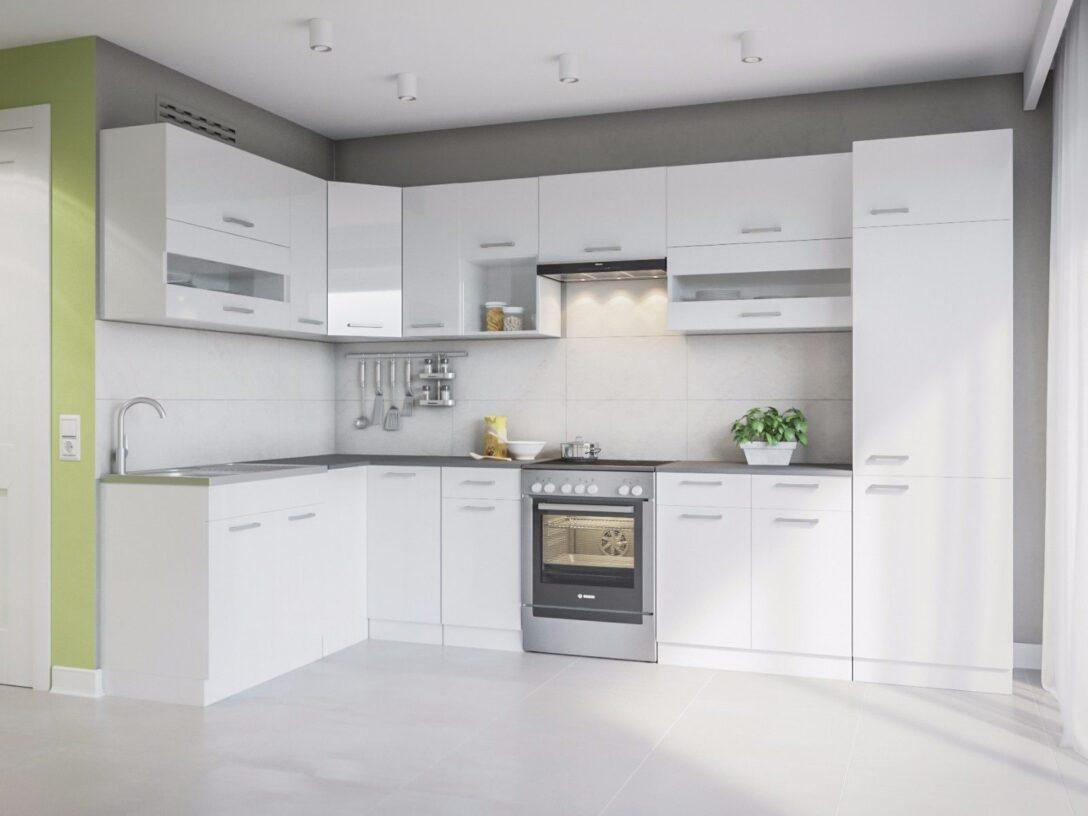 Large Size of Mini Küche über Eck Eldorado Alina 330x170 L Form Kche Wei Gnstig Kaufen Ebay Deckenleuchten Bad überzug Sofa Pendelleuchten Hängeschrank Glastüren Wohnzimmer Mini Küche über Eck