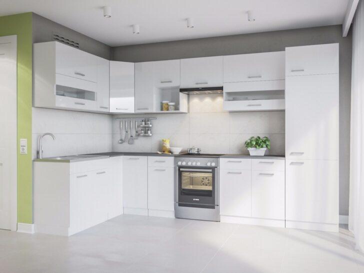 Medium Size of Mini Küche über Eck Eldorado Alina 330x170 L Form Kche Wei Gnstig Kaufen Ebay Deckenleuchten Bad überzug Sofa Pendelleuchten Hängeschrank Glastüren Wohnzimmer Mini Küche über Eck