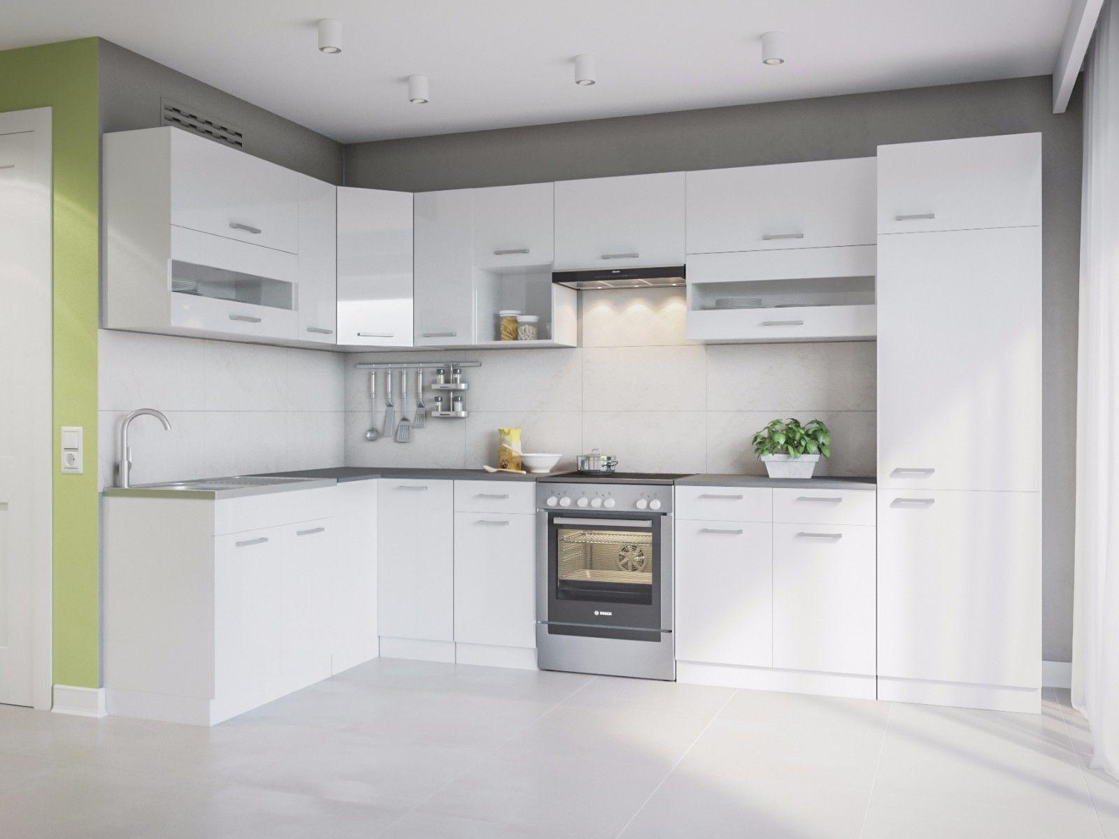 Full Size of Mini Küche über Eck Eldorado Alina 330x170 L Form Kche Wei Gnstig Kaufen Ebay Deckenleuchten Bad überzug Sofa Pendelleuchten Hängeschrank Glastüren Wohnzimmer Mini Küche über Eck