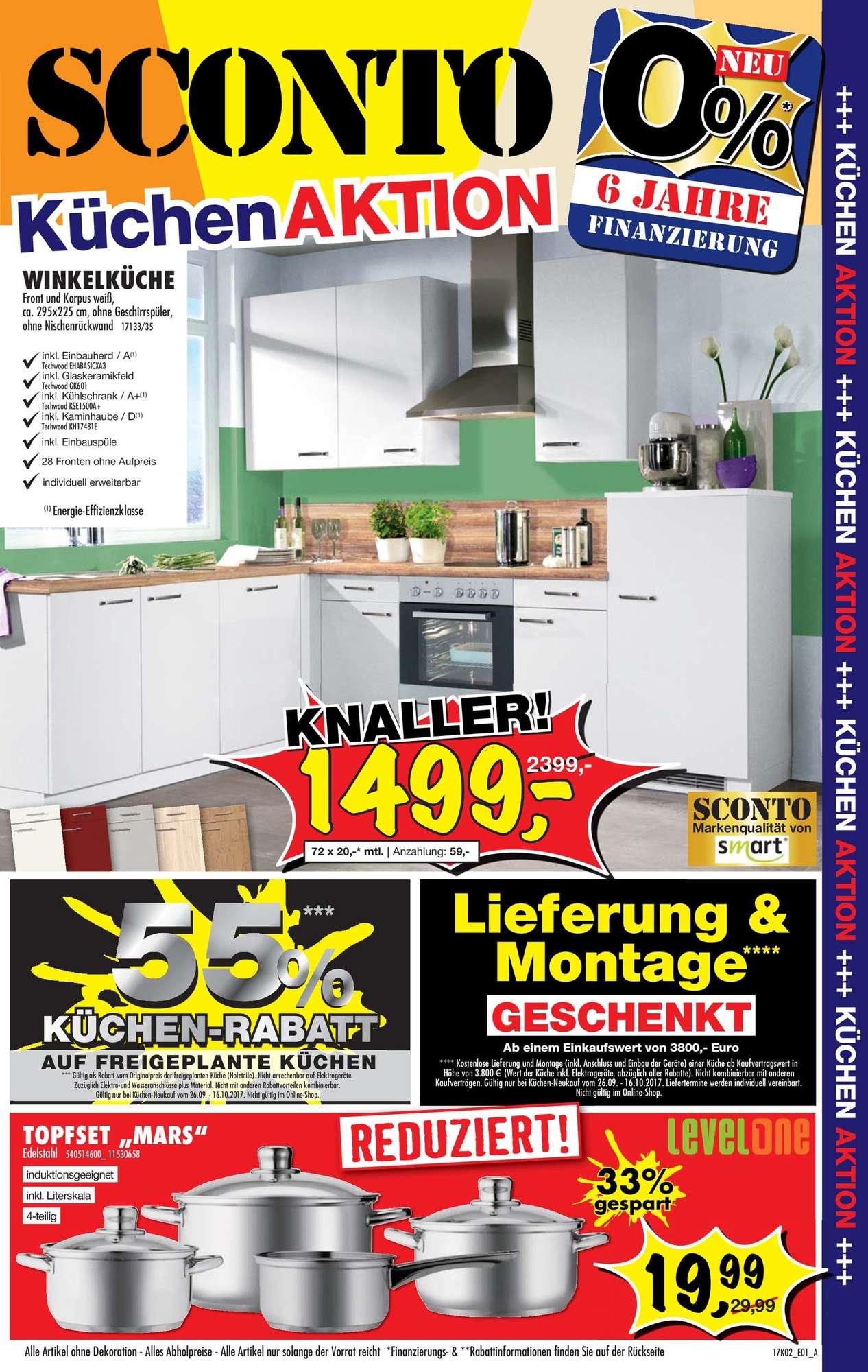 Full Size of Sconto Küchen Sb Kchenaktion 26092017 16102017 Regal Wohnzimmer Sconto Küchen