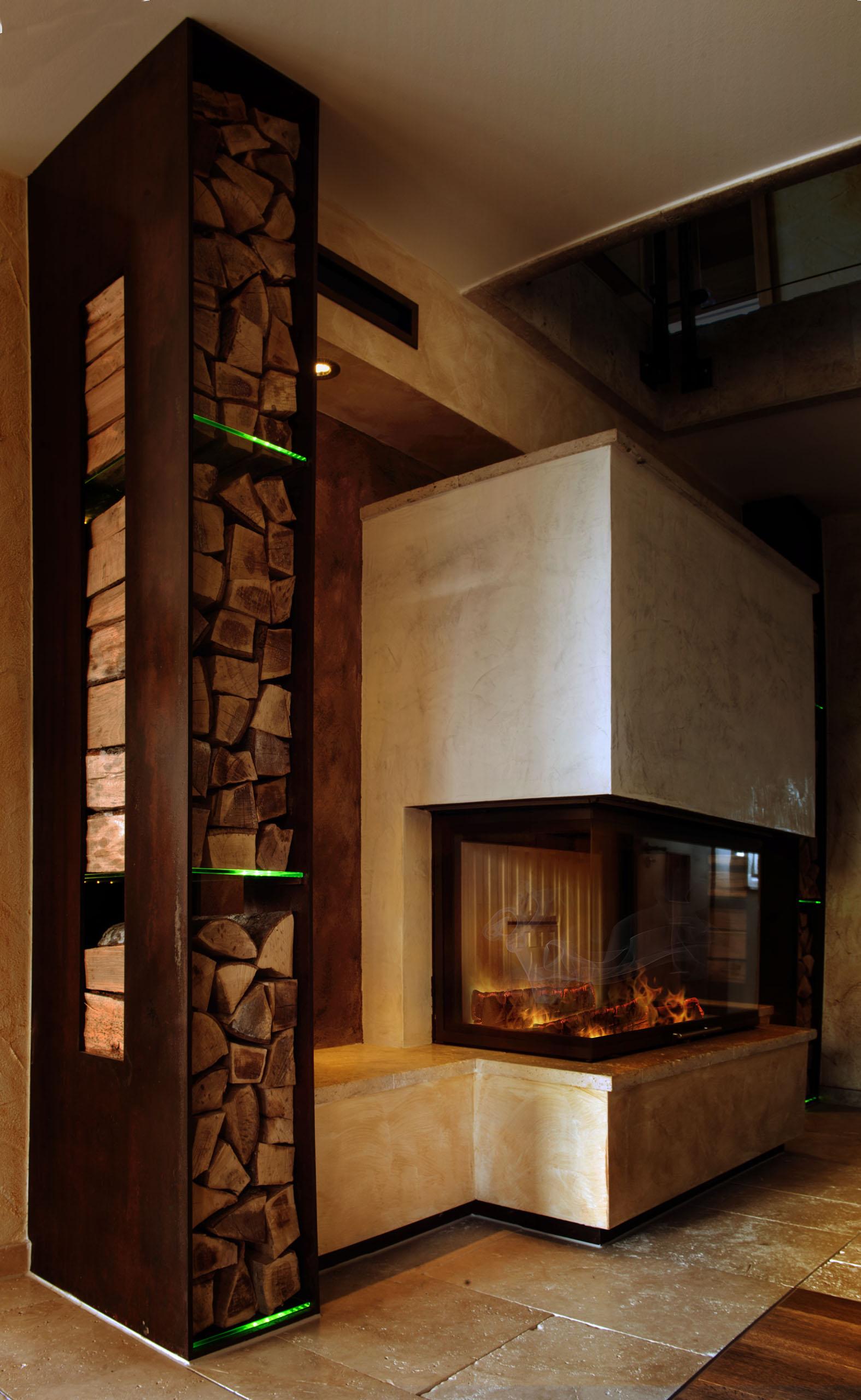 Full Size of Holzlege Cortenstahl Kamin Und Ofengestaltung Wohnzimmer Holzlege Cortenstahl