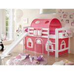Mädchenbetten Rosa Weiss Holz Schaukeln Rutschen Online Kaufen Mbel Wohnzimmer Mädchenbetten