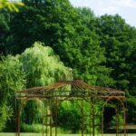 Pavillon Eisen Wohnzimmer Pavillon Eisen Gartenpavillon Metall Rost 250cm Eleganz Garten