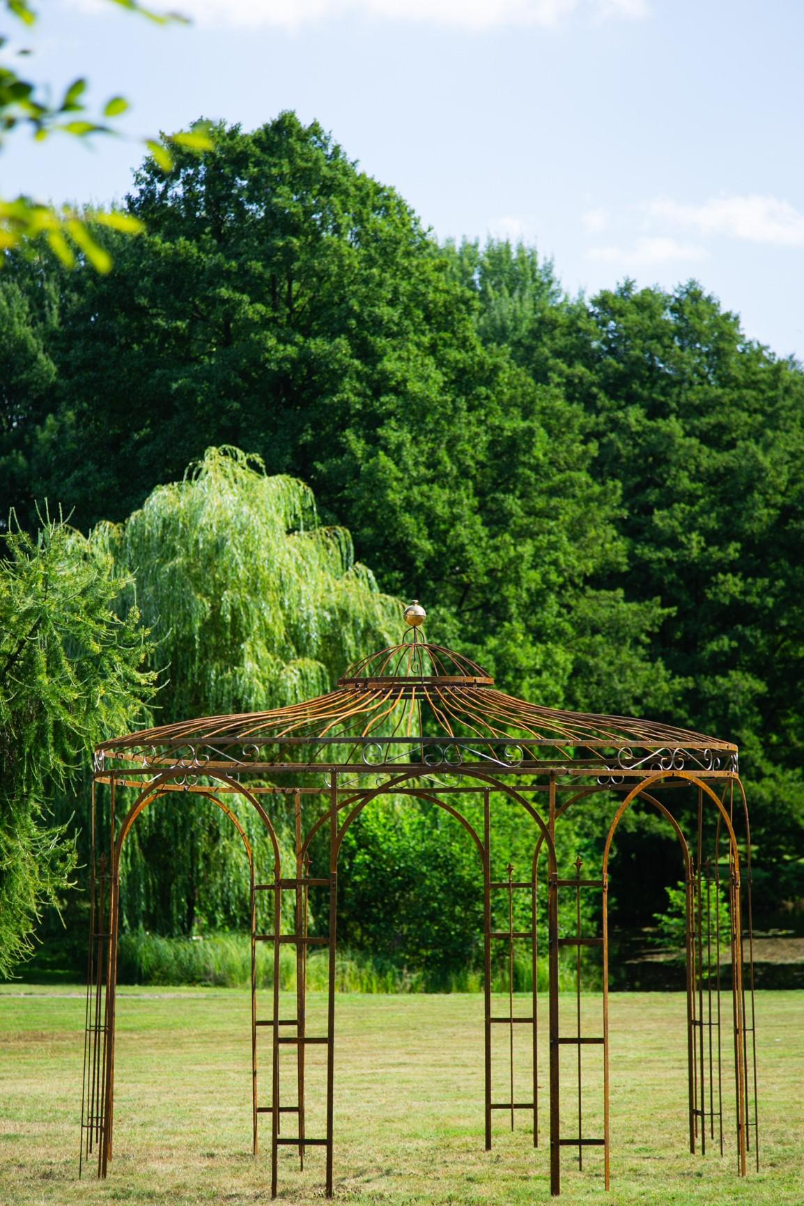 Full Size of Pavillon Eisen Gartenpavillon Metall Rost 250cm Eleganz Garten Wohnzimmer Pavillon Eisen