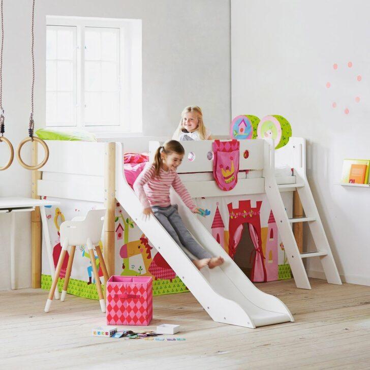 Medium Size of Halbhohes Hochbett Flexa Bett Mit Rutsche Wohnzimmer Halbhohes Hochbett