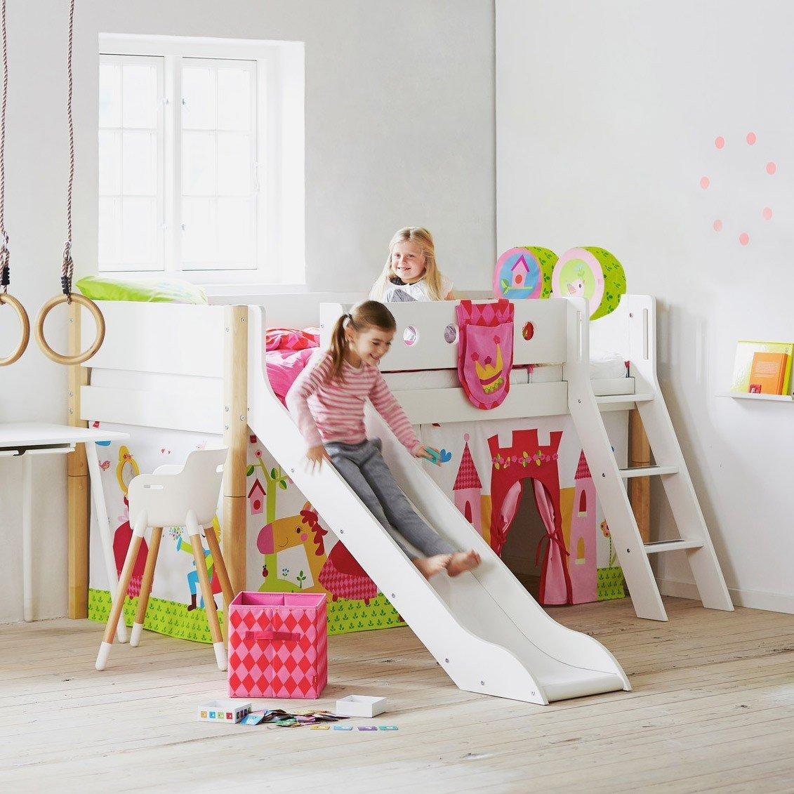 Full Size of Halbhohes Hochbett Flexa Bett Mit Rutsche Wohnzimmer Halbhohes Hochbett