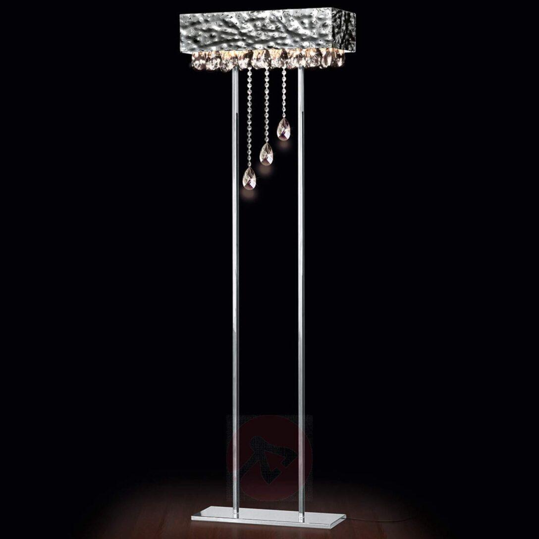 Large Size of Kristall Stehlampe Glanzvolle Stehleuchte Magma Mit Kristallbehang Kaufen Lampenweltde Wohnzimmer Stehlampen Schlafzimmer Wohnzimmer Kristall Stehlampe