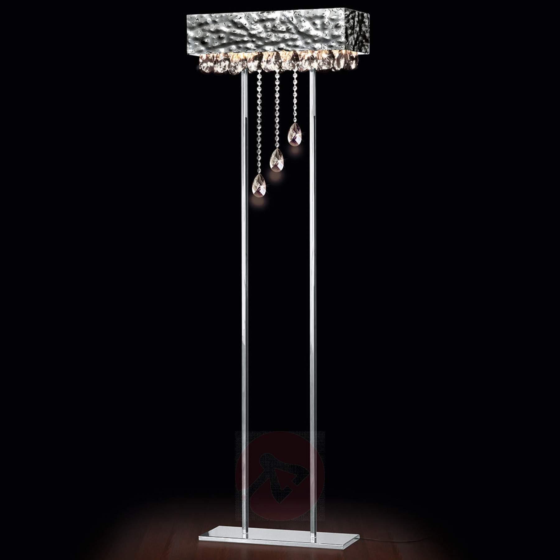 Full Size of Kristall Stehlampe Glanzvolle Stehleuchte Magma Mit Kristallbehang Kaufen Lampenweltde Wohnzimmer Stehlampen Schlafzimmer Wohnzimmer Kristall Stehlampe