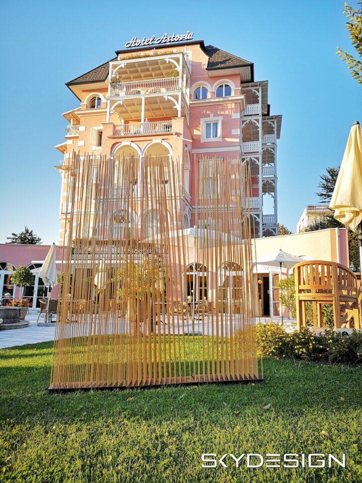 Medium Size of Paravent Bambus Balkon Sichtschutz Im Garten Skydesignnews Bett Wohnzimmer Paravent Bambus Balkon